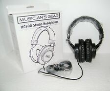 Musician's Gear MG900 Studio Headphones - NEW - Works Perfectly - Box Blem