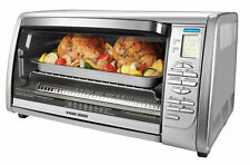 BLACK+DECKER Countertop Convection Toaster Oven, Silver, CTO6335S