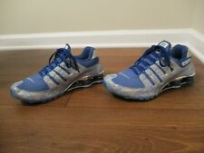 "Classic 2006 Used Worn Size 10 Nike Shox NZ ""Circuits"" Shoes Silver Blue Chrome"