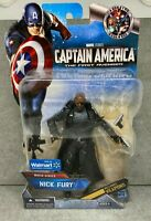 "Marvel Legends Hasbro Captain America Movie Nick Fury Walmart 6"" Action Figure"