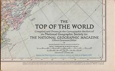 National Geographic Map ~ Top Of The World ~ Oct. 1949 ~ Very Nice Condition