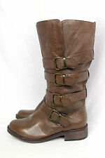 Steve Madden NEW Belman Brown Buckle Riding Equestrian Moto Biker Combat Boots 6