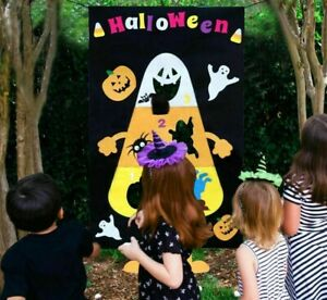 Halloween Party Games Supplies Hanging Pumpkin Ghost Toss Educational Game Funny