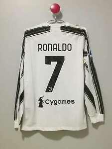 Juventus Long Sleeves Home Vintage Soccer Jersey #7 RONALDO Size [XL]