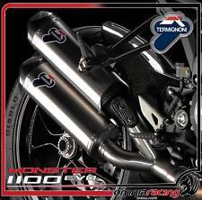 Terminali scarico Termignoni inox omologato Ducati Monster 1100 Evo 2011 11>