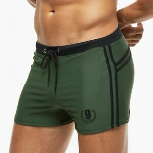 Men Swimming Trunks Breathable Swimsuit Boxer Brief Beach Shorts Sexy Pool Suit