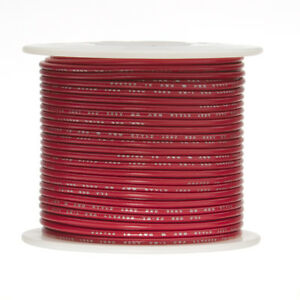 "24 AWG Gauge Stranded Hook Up Wire Red 500 ft 0.0201"" PTFE 600 Volts"