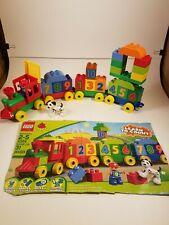 Lego Duplo Building Set 10558 Number Train 1-10 Boy & Dog Complete RETIRED