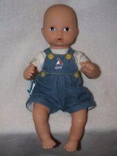 "Cute 10"" Bald Gotz Baby Doll Wearing Original Outfit"