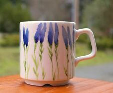 Blue Coffee Mug Pillivuyt Produit En France Porcelaine Decor Garrigue