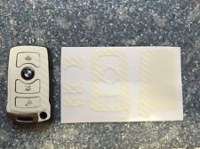 Carbon Weiß Schlüssel Folie BMW Key E67 5er E67  6er 7er E65 E66 E M 3 Tasten