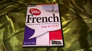 TEACHING-YOU FRENCH -  SYRACUSE LANGUAGE SYSTEMS 2001 PC CD-ROM ***LOW PRICE***