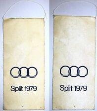 Silk pennant flag - Split Yugoslavia 1979 Mediterranean Games