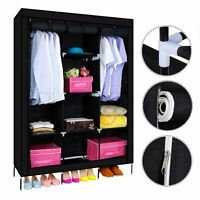 New Cloth Shoe Storage Rack Organiser Cabinet Portable 5 Tier Shelf Holder Black