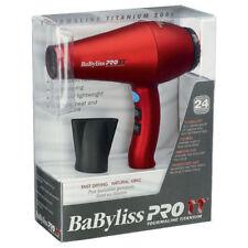 BaByliss PRO 3000 Tourmaline Titanium Hair Blow Dryer 1900 Watts Red BABTT5585