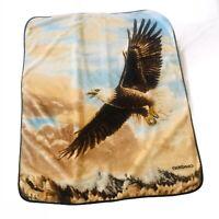"Northwest Giordano Blanket Plush Aztec Eagle Afghan Throw 50"" X 60"" American"