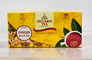 Ceylon Tea Steuarts Ginger Tea 25 bags 50g  Original quality Sir Lankan Product