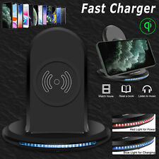 Qi Wireless Fast Charger Charging Stand Dock For Samsung Galaxy Note 20 Ultra/S9