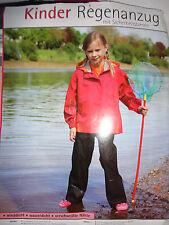 Neu Kinder Regenanzug Gr.152 rot-schwarz  Jacke Hose