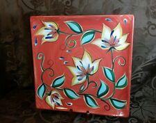 "Gail Pittman Southern Living at Home SLAH Red Bountiful Square Platter 13"""