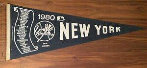 1980 Original Full-Sized New York Yankees Pennant w/ Reggie Jackson