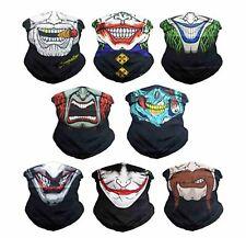 Skull Clown Face Shield Shields Bandana Fishing Durag Neck Scarf Headwear Mask