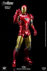 King Arts 1/9 DFS021 Diecast Iron Man MK VI Mark 6 Figure Collectible Model