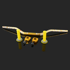 Gold Handlebar Fat Bar Mount Clamp Grips Donuts Set For Suzuki RMZ250 2004-06 05