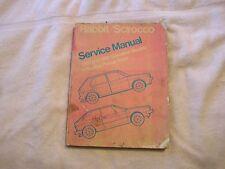 Volkswagen Rabbit Scirocco Service Manual Bentley 1980-81 Gas Models Truck