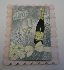 PK 2 Happy 25. silber Hochzeitstag Cake Topper für Karten oder Handarbeiten