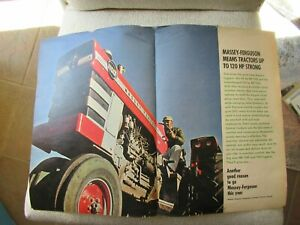 1966 Massey Ferguson MF 1100 tractor print AD 2 pages