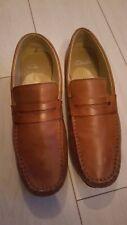 Mens clarkes slip on tan leather shoes size 10