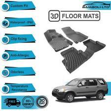 3D Molded Interior Car Floor Mat for HONDA CRV SUV 2002-2006 (Black)