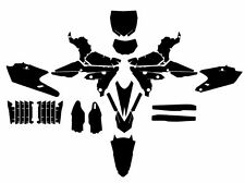 Yamaha WR450F YZ450FX (2016 - 2017)  motocross vector template (1:1 scale)