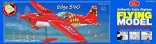 "Balsa Wood Flying Model Airplane Guillow's ""Edge 540"" Laser Cut  GUI-703"