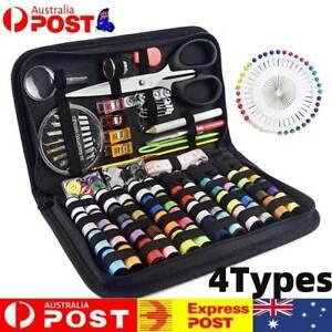 Home Travel Thread Threader Needles Case Tape Measure Scissor Sewing Kit AU