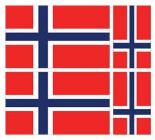 4 X NORWEGIAN NORWAY FLAG VINYL CAR VAN IPAD LAPTOP STICKER