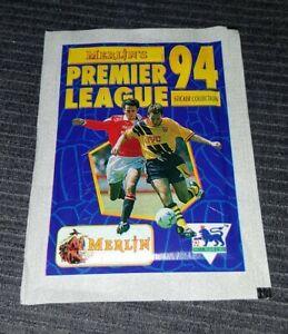 Merlin premier league 94 (not panini) football sticker packet 1994 Rare
