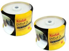 100 Genuine KODAK Blank Printable DVD+R DL Dual Double Layer 8.5GB Disc 8x