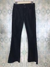 7 For All Mankind Black Velvet Flare Denim Pants Trousers Jeans 28