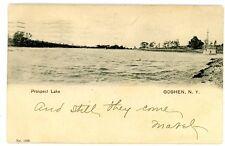 Goshen NY - PROSPECT LAKE SCENE - Postcard Orange County