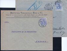== DR Germania Mi. 72 a+b auf Briefen, gepr. BPP, Kat. 226€ ==