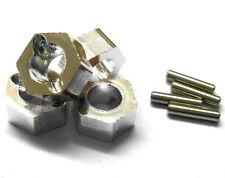 Aleación de Aluminio N10179S escala 1/16 Pin buje hexagonal unidad de rueda 7mm M7 Plata X 4