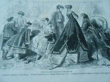 Gravure 1868 - Modes Fashions Enfants du Tapis Rouge Robe Lingerie