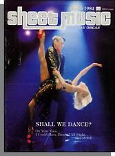 Sheet Music Magazine (Easy Organ) - 1984, March - Shall We Dance?  Flashdance