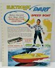 """1960 """" ELECTROMIC DART""""  SPEED BOAT toy single sided Dealer Sales flyer L@@K!"""