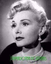 ZSA ZSA GABOR 8x10 Lab Photo 1950s Sexy Pearl Necklace Choker, High Fashion