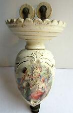 RARE Monte et Baisse, porcelaine peinte, Scènes romantiques Femmes antiques
