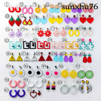 Women Earring Girl Acrylic Drop Dangle Eardrop Fruit Candy Color Lemon Ice Cream