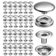 100PCs bouton pression métal 15mm argenté outil à fixer pour cuir maroquinerie
